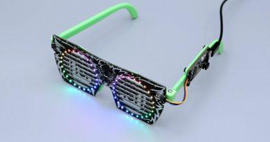 3D Printed Frame for Adaruit IS31FL3741 LED Glasses